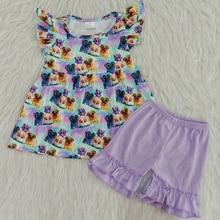 2020 enfants Boutique enfant en bas âge bébé fille vêtements dessin animé Fultter & solide volants pantalon 2 pièces petites filles tenue enfants vêtements ensembles