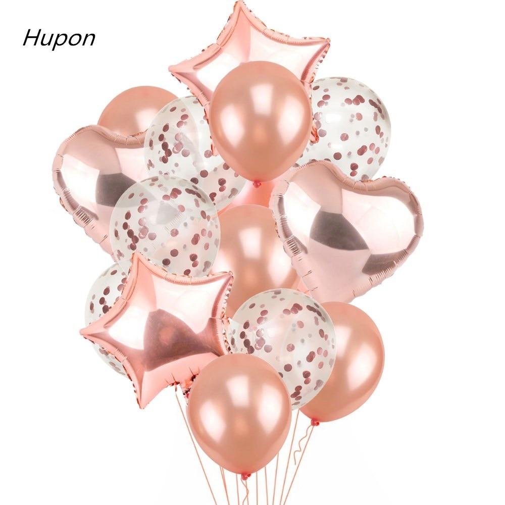 Розовое золото Воздушные шары из фольги шары из латекса Конфетти День Рождения украшения для детских игрушек Детские воздушные шары