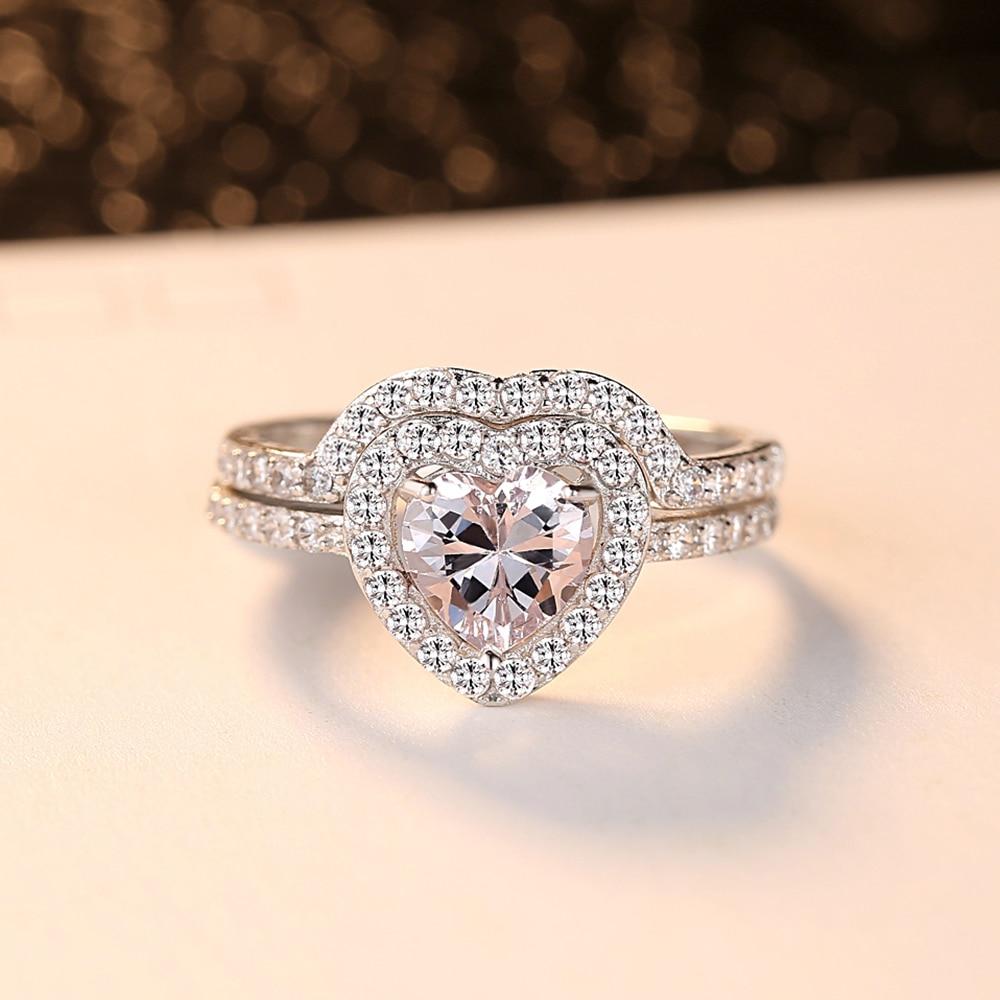 Anel em forma de coração colorido glamour moda senhora anel brilhante mini zircão criativo fechado anel de metal colorido jóias decorativas