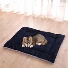 Dog Blanket Home Pet Blanket Mat Dogs Cats Bed Cushions Big Dogs Cat Mat Soft Cushion Warm Quilt Cotton Beds Short Plush Bed Mat