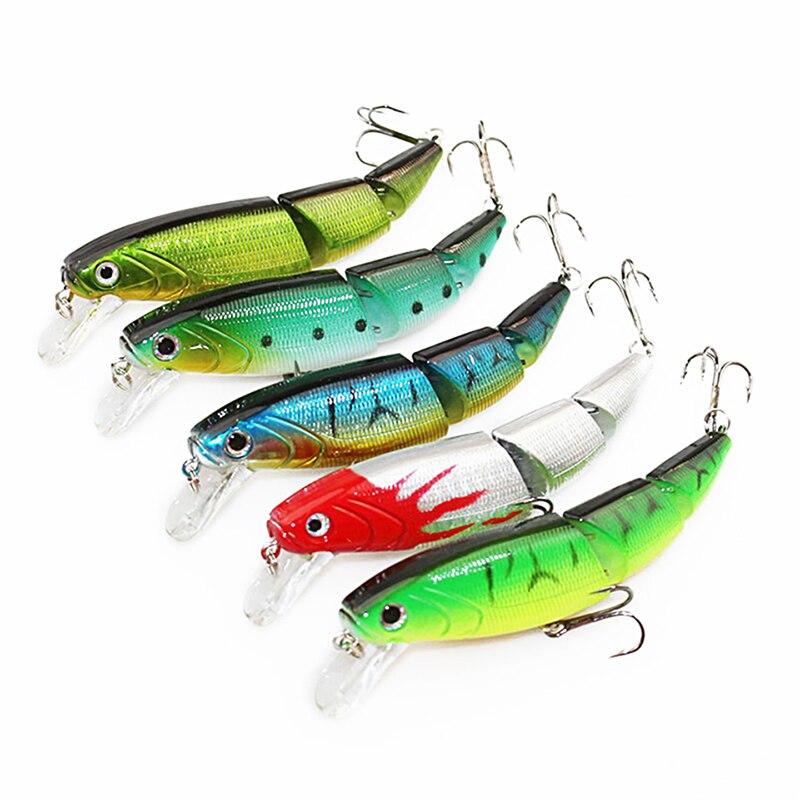 WALK FISH 5 шт./лот рыболовная приманка 10,5 см 15 г Swimbait 3 сегмент гольян рыболовный крючок с приманкой рыболовные снасти