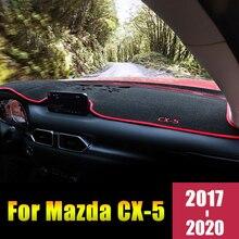 Housse de protection pour MAZDA 2012 CX5 2016-2017 2018 2019 LHD/RHD   Couverture de voiture pour tableau de bord, tapis anti-lumière, étui Anti-UV, accessoires
