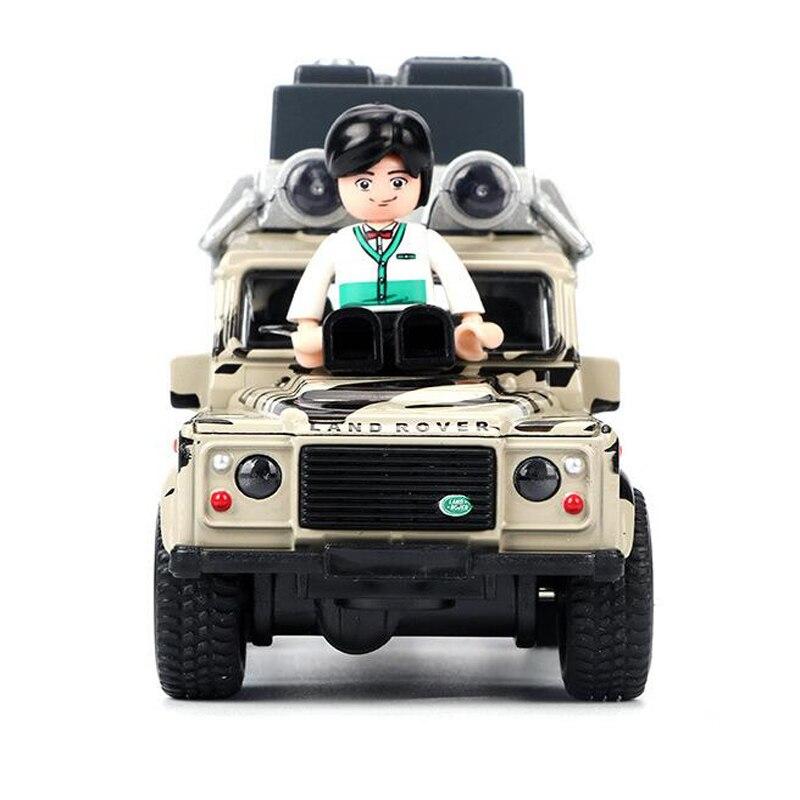 Simulación de aleación de coche modelo fuera de carretera vehículo sonido y luz música Pull Back Boy interactiva juguete Puerta de coche puede ser abierto