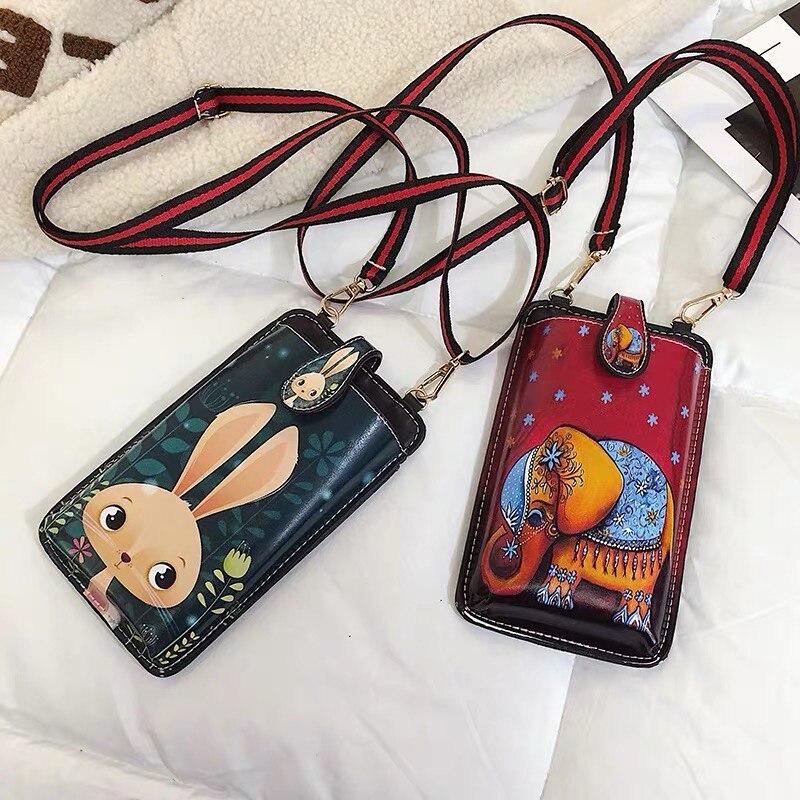 2019 bolsas de teléfono de cuero PU con correa de hombro para Samsung Galaxy Note 10 S10 5G Pro lite Plus 9 A80 A50