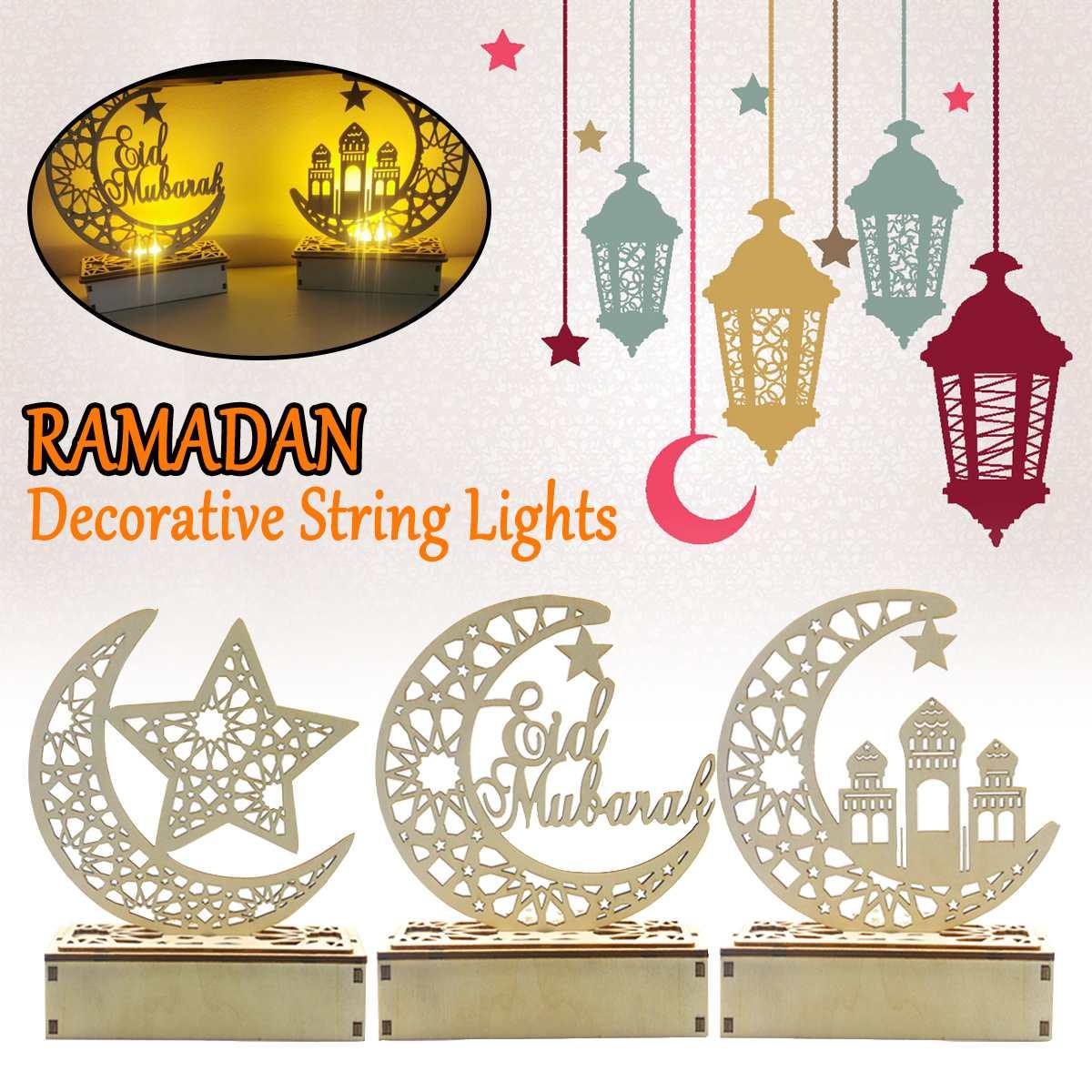 Cadena de luces, lámpara de palacio estéreo Ramadán LED Eid Mubarak, decoración decorativa, cadena de luces Kareem, accesorios de decoración Musli
