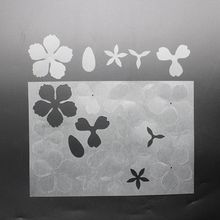2Pc Blume Haarnadel Schrumpf Film DIY Magie Kunststoff Papier Blatt Schmuck, Der Q0KE