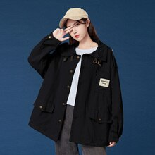 2021 Autumn Winter New Korean Fashion Womens Jacket Solid Color Fashion Casual Single Breasted Lapel