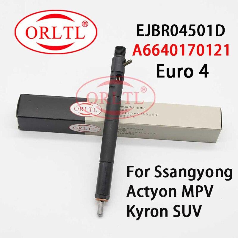 Para delphi ssangyong actyon ejbr04501d injetor de trilho comum a6640170121 ssangyong kyron 4501d