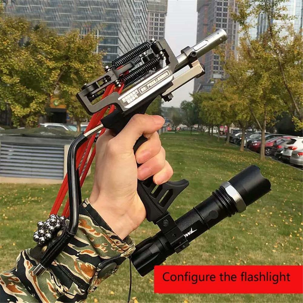 Охотничья Рогатка для рыбалки рыболовный лук уличная Мощная Рогатка катапульта качественная Лазерная Рогатка черный красный