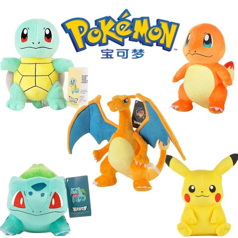 Pokémon Plush Doll Toy Pikachu Elf Pokémon Doll Kawaii Cartoon Plush Toy Doll Doll Pillow Children's Birthday Gift недорого