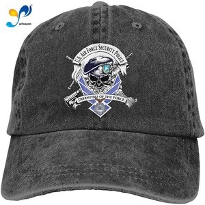Defensor Fortis Air Force Security Force Adjustable Baseball Caps Denim Hats Cowboy Sport Outdoor
