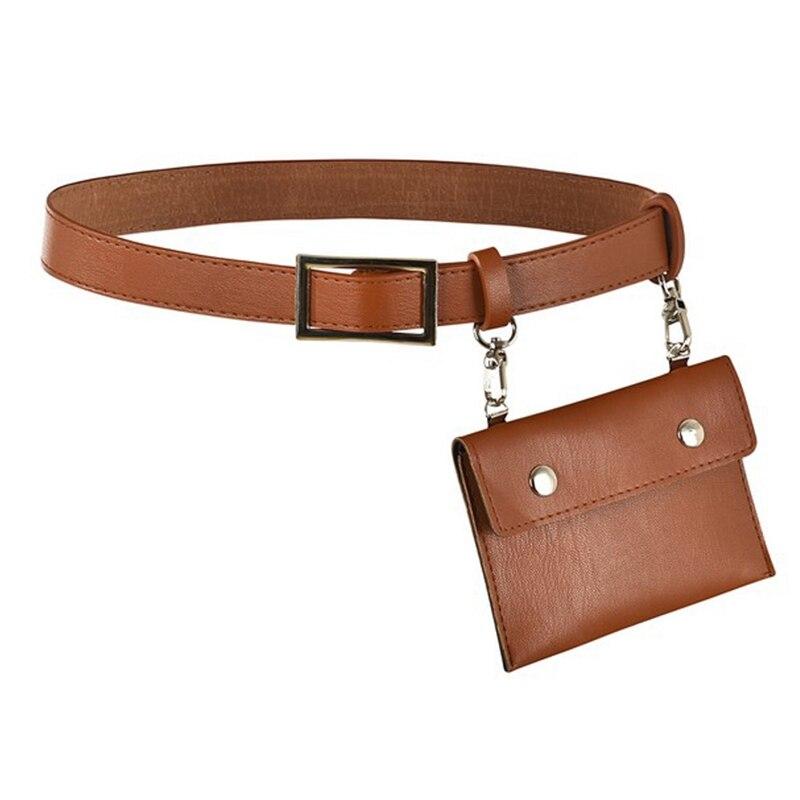 Riñonera de cuero, riñonera para hombre, bolso de mujer, riñonera de viaje (marrón)