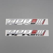 1X 3D ABS plastique Auto voiture APR étape/// + emblème queue côté autocollant Badge style décalcomanies pour Golf Tiguan S3 S5 S6 TTS RS7