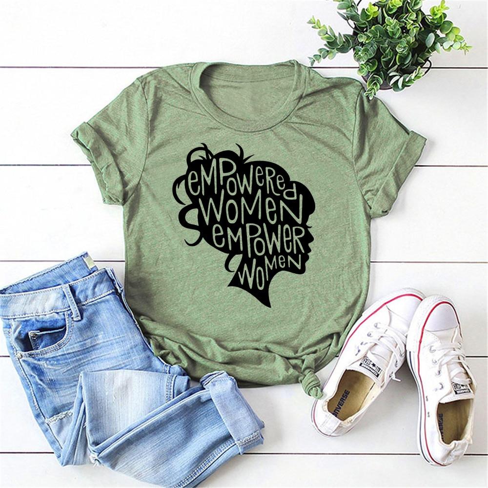 ¡2020! Camiseta Empowered para mujer, camiseta Cool feminista, camiseta feminista con gráfico de poder para chica