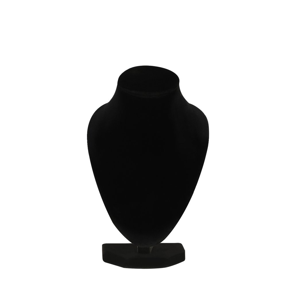 1pcs 10*15cm Mini Black Velvet Body Necklace Display Pedestal Jewelry Chain Holder Stand for Women Lady Girl Hot Selling
