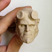 "1/6 scale Unpainted Head Sculpt C Style Hellman Hellboy Blank Fit 12"" Figure"