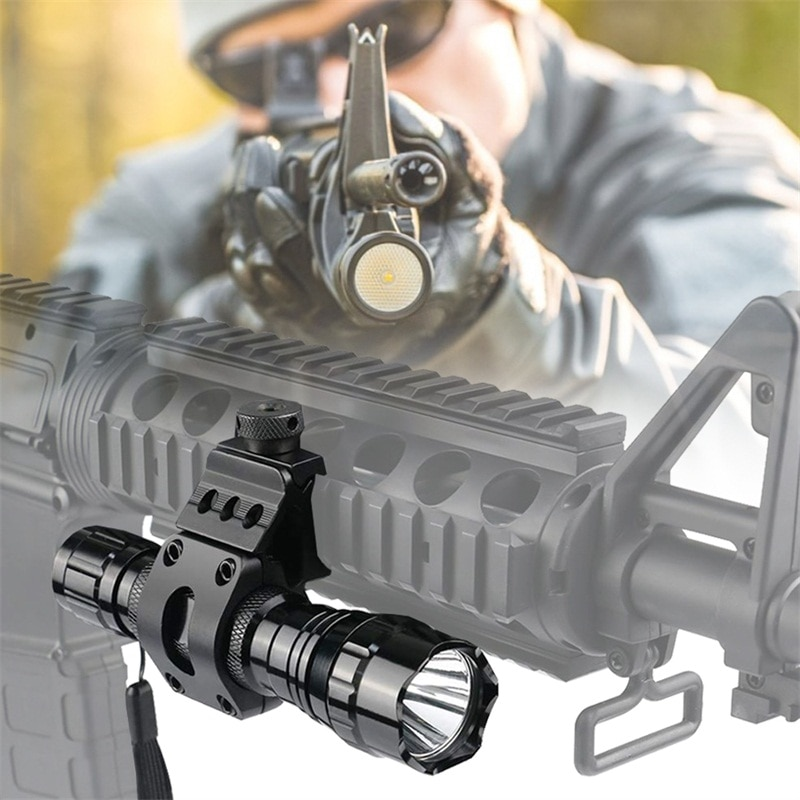 Outdoor Water Proof Tactical Flashlight Rechargeable Led Flashlight Ultra Bright Torch High Lumens F
