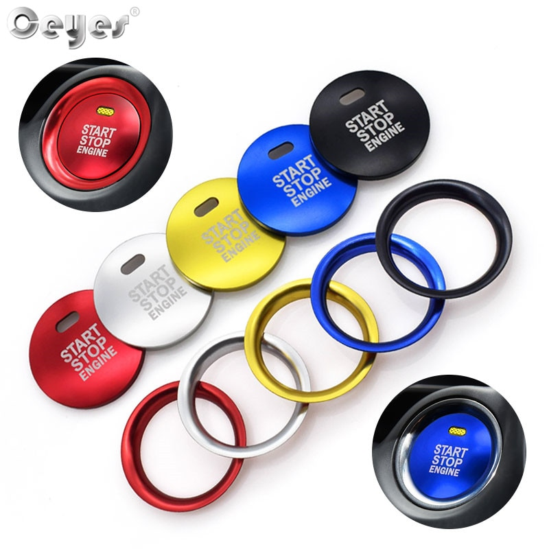 Ceyes Car Styling Stickers For Mazda CX3 Axela CX 4 CX5 CX 5 CX-5 Atenza Car Engine Start Stop Button Ring Covers Circle Case