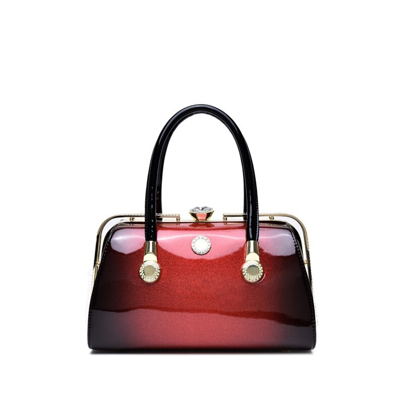 Hot 2020 new fashion styling patent leather temperament women's bag fashionable bright European and American atmosphere lady's