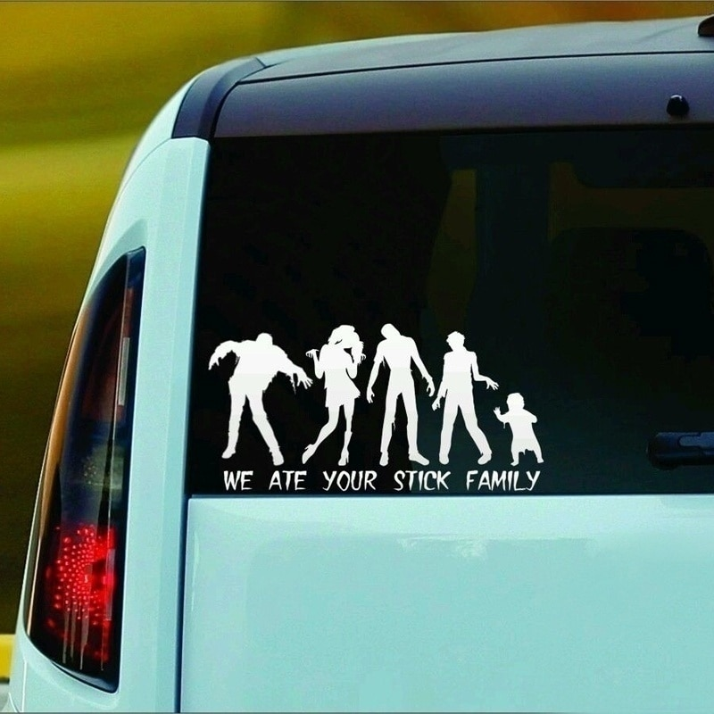 Zombie familia etiqueta engomada etiqueta incheswe se comió tu palo Familyinches ( )