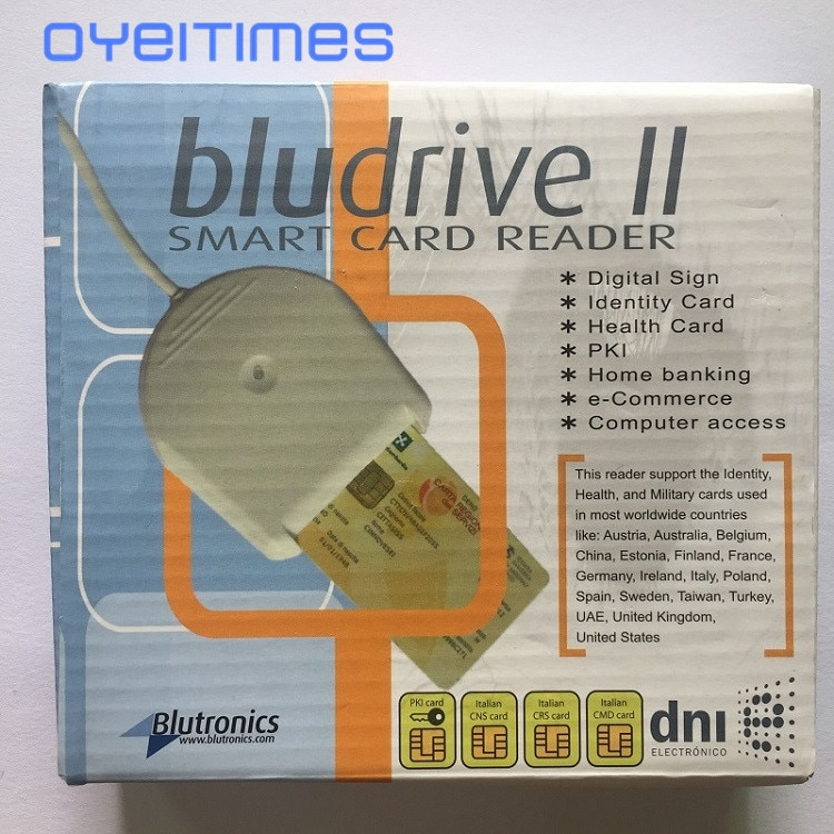 OYEITIMES Bludrive II Smart Card Reader SIM Card Reader USB Reader Use For Blank SIM Cards SIM Card Reader Writer Free Shipping
