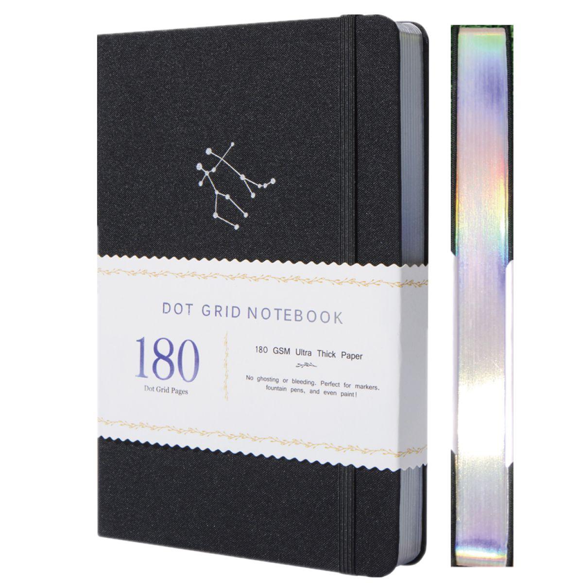 A5 знак зодиака Близнецы пунктирный журнал в горошек 160 г/кв. М бамбуковая толстая бумага страниц 5*5 мм в горошек-коробка в подарок