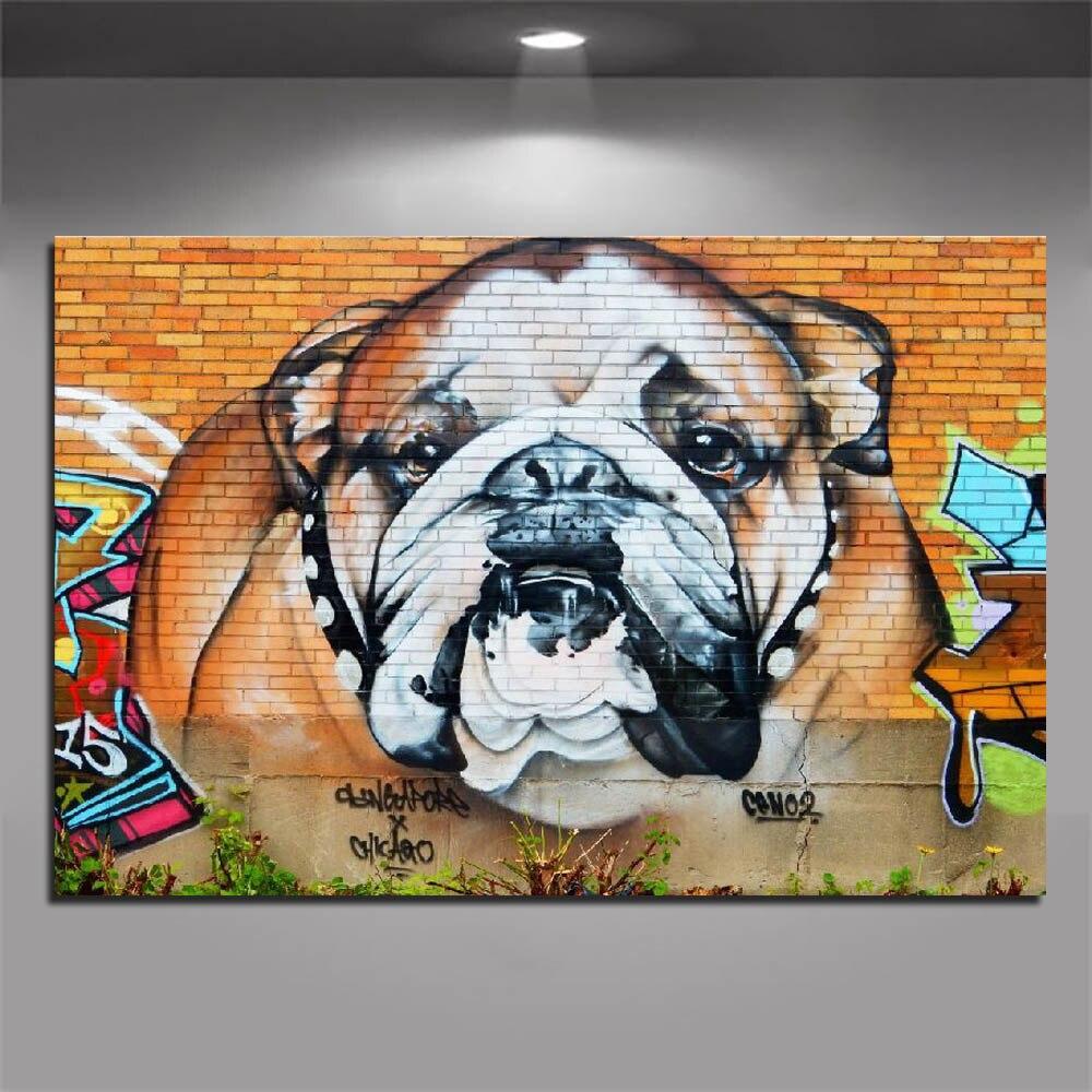 Taladro redondo cuadrado completo 5D Diy diamante pintura Graffiti Bulldog calle diamante bordado diamante mosaico pared decoración del hogar