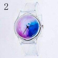 Fashion Women Wristwatches Plastic Clock Transparent Strap Student Sport Watches Lady Girls Casual Q