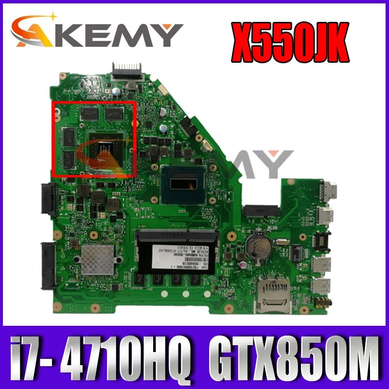X550JK i7- 4710HQ CPU 4GB RAM GTX850M 2GB ل ASUS550JD FX50J ZX50J A550J X550J X550 اللوحة المحمول USB 3.0 100% اختبار