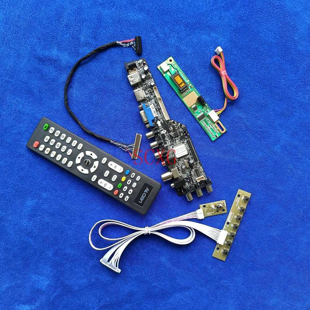 عرض كارت قيادة إشارة رقمية DVB USB VGA AV HDMI-متوافق مع عدة 1440*900 30Pin LVDS 1CCFL ل LTN154X7/N154C1/N154C2/N154C3