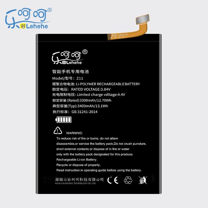 Nueva batería LEHEHE para ZTE Nubia Z11 Li3829T44P6h806435 NX531J alta capacidad 3400mAh batería recargable herramientas de regalo gratis