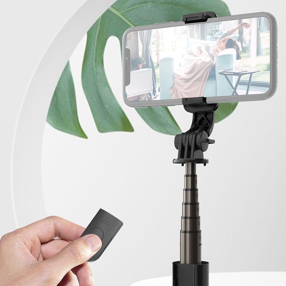 Phone Selfie Stick Wireless Bluetooth Handheld Mini Tripod Monopod With LED Fill Foldable Extendable Light Q2E3
