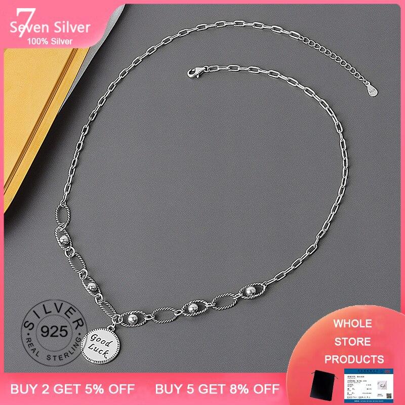 Мода-Тип-элемента-подвесное-ожерелье-кулон-100-925-Серебряное-ожерелье-для-женщин-хорошая-цепочка-удачи-для-женщин-и-девочек-вечерние-подаро