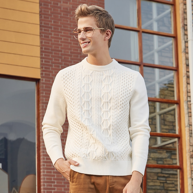 Фото - Sweater Men 2020 Winter New Round Collar clothes Lazy Wind Solid Color Sweater Personality Sweater Men fall winter sweater men thickened korean fashion personality sweater lazy pullover sweater coat