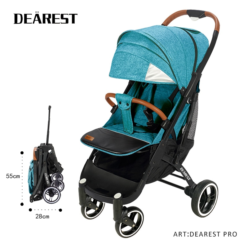 Dearest Pro Portable Travel Stroller With Reflective Strips And Breathable Sunroof