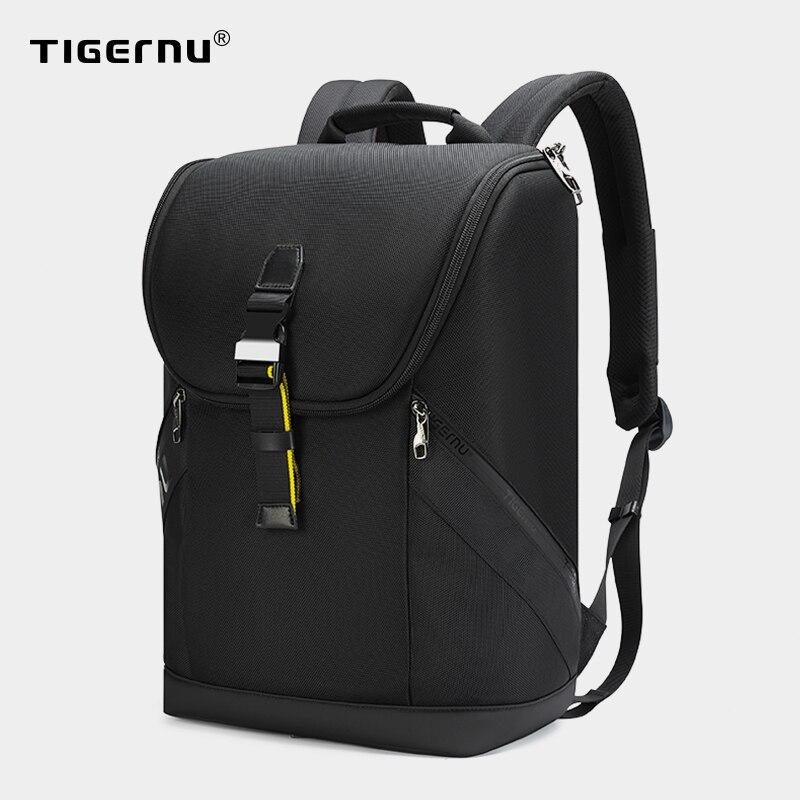 Tigernu 2021 Waterproof Men Backpack High Quality 15.6 inch Laptop Backpack Kroean Fashion Backpack Teenager Bags Male Mochilas