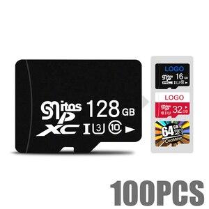 Пользовательский логотип, оптовая продажа, реальная емкость карты памяти 32 ГБ 16 ГБ 8 ГБ 64 Гб 128 ГБ 256 ГБ Micro SD карта класс 10 U1 U3 SD оригинальная па...