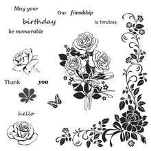 AZSG 아름다운 꽃 우정 지우기 DIY Scrapbooking 장식 카드 만들기 공예 재미 장식 용품 13*13cm