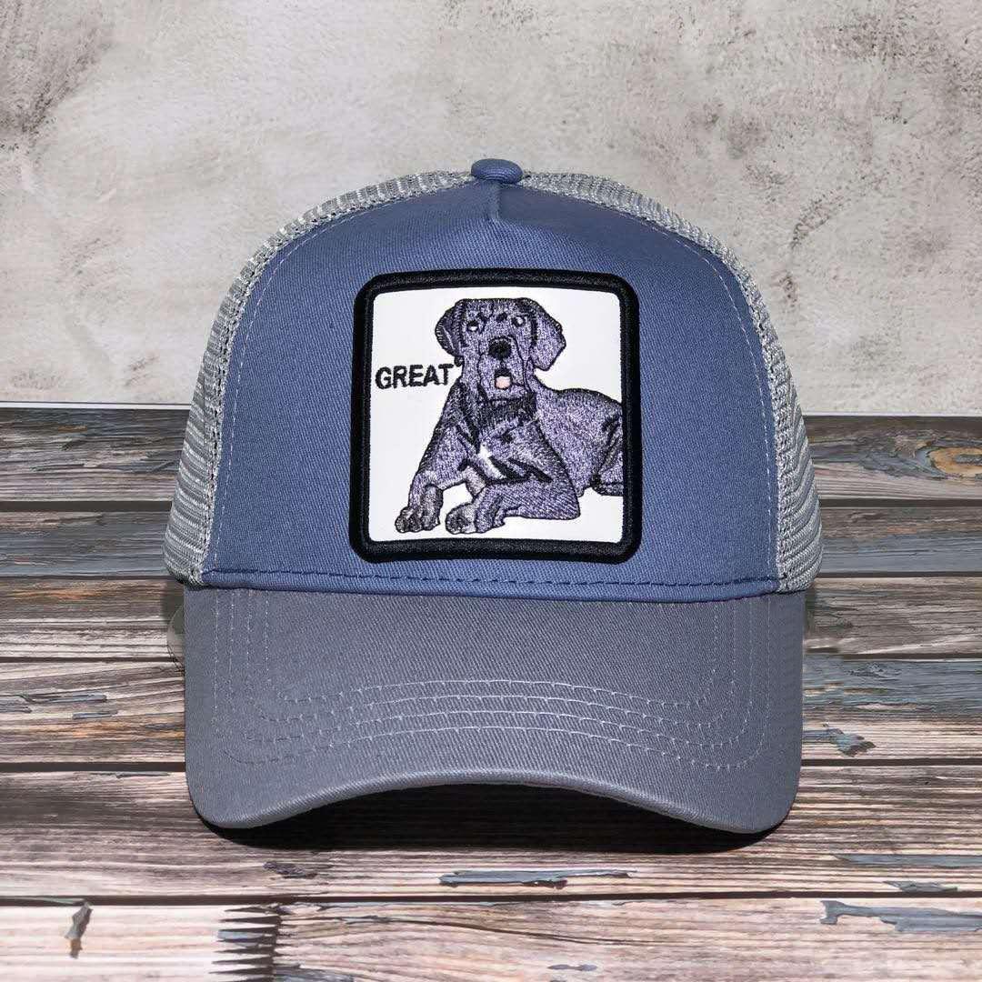 Бейсболка колпачки для животных для мужчин и женщин, модная кепка с сеткой, регулируемая, Бейсболка унисекс, летняя
