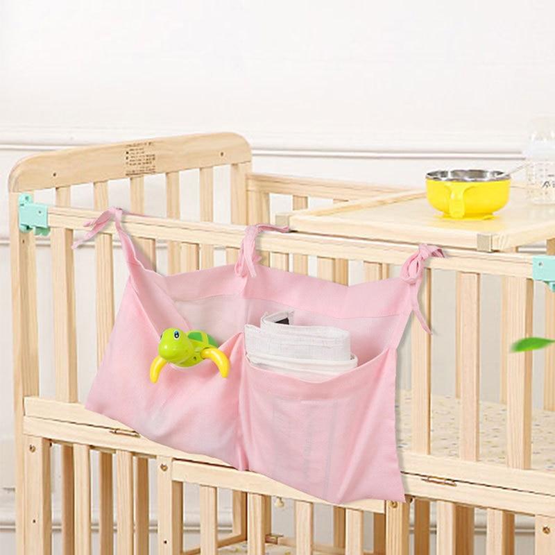 Infant Multi-Function Storage Bag Newborn Baby Crib Hanging Bag Baby Diaper Organizer Toy Diaper Pocket Bedding Set