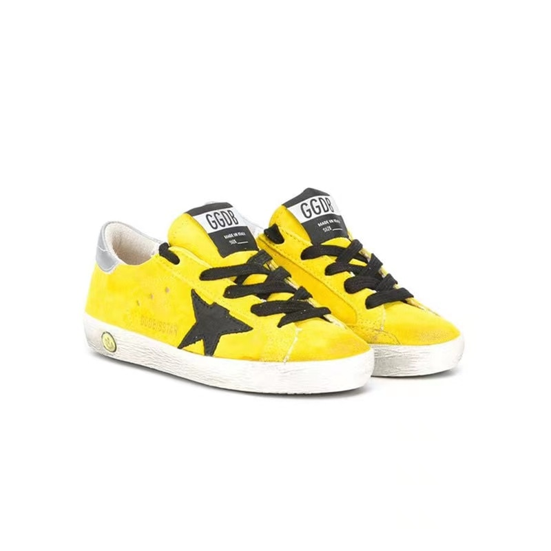 2021Children  Spring and Summer New Lemon Yellow Ox Velvet Retro Old Small Dirty Shoes Boys and Girls Casual Kids Shoes CS195 enlarge