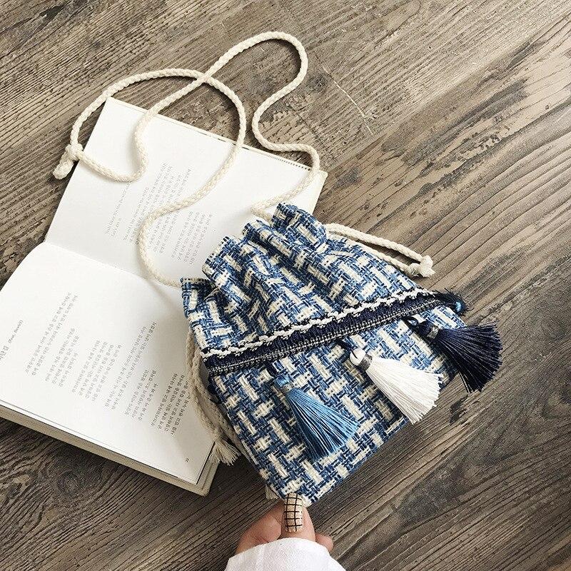 Sacs à main de luxe de styliste Mori pour femmes, petits sacs Messenger Style chinois, sac à bandoulière pour Costume, sac seau à pompon