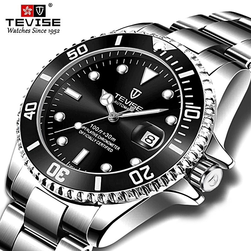 Tevise Brand Men Mechanical Watches Automatic Watch Famous Design Fashion Luxury Gold Clock horloges