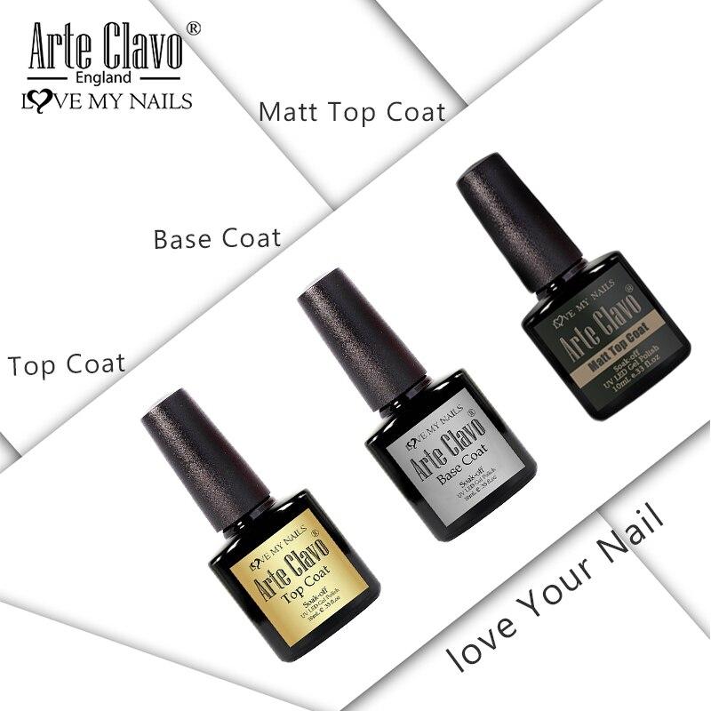 Arte Clavo-Gel UV para uñas, imprimación y barniz, secado rápido, capa superior para Base de uñas mate, No limpiar la parte superior del Gel, para manicura y Arte para uñas, 10ml