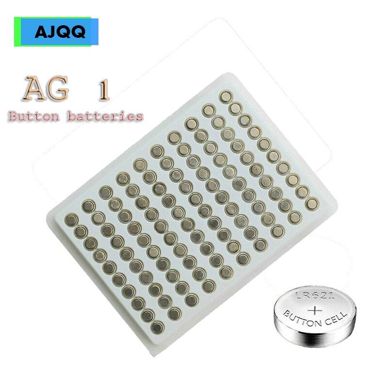 Недорогая Щелочная батарейка AJQQ AG1 300 В 1,55 SR621SW LR621 364 LR60 CX60, батарейка для часов, 621 шт.