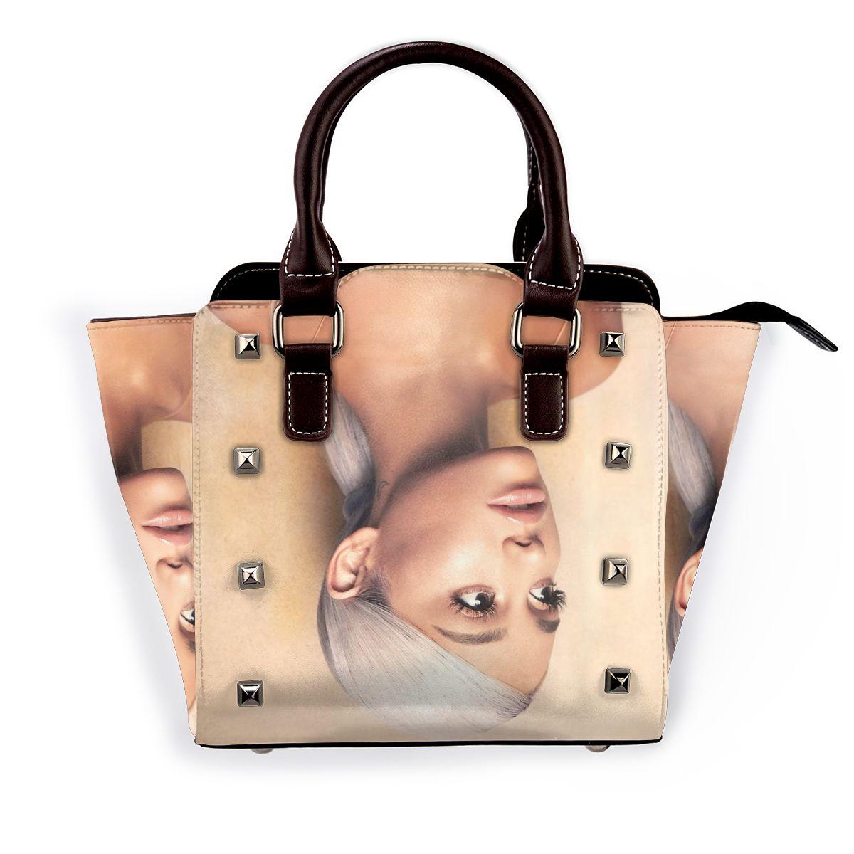 التحلية أريانا غراندي حقيبة كتف ألبوم صور موضة حقيبة يد أنيقة جلد التسوق حقائب نسائية