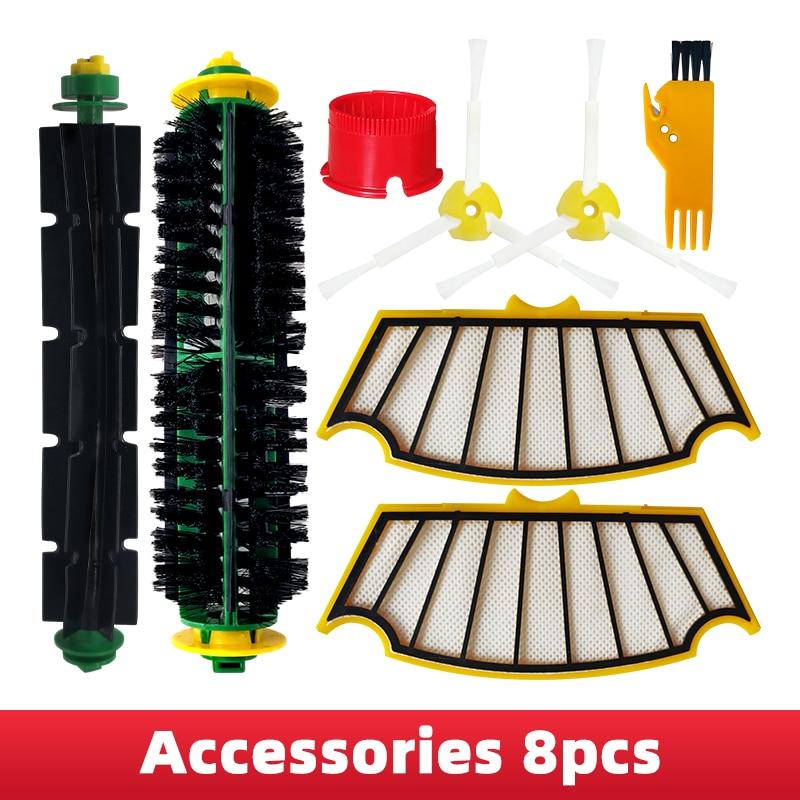 Hepa фильтр основной щетки боковая щетка для iRobot Roomba 500 серии 510 530 535 532 550 560 570 580 585 Робот Запчасти для пылесоса