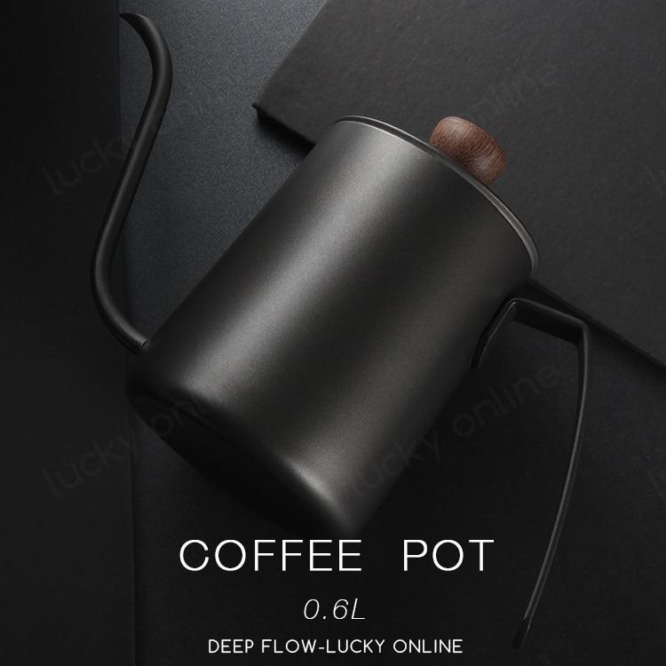 Aço inoxidável pote de café gooseneck chaleira ferramentas gotejamento cafeteira café francês comida italiana beber suprimentos de50kf