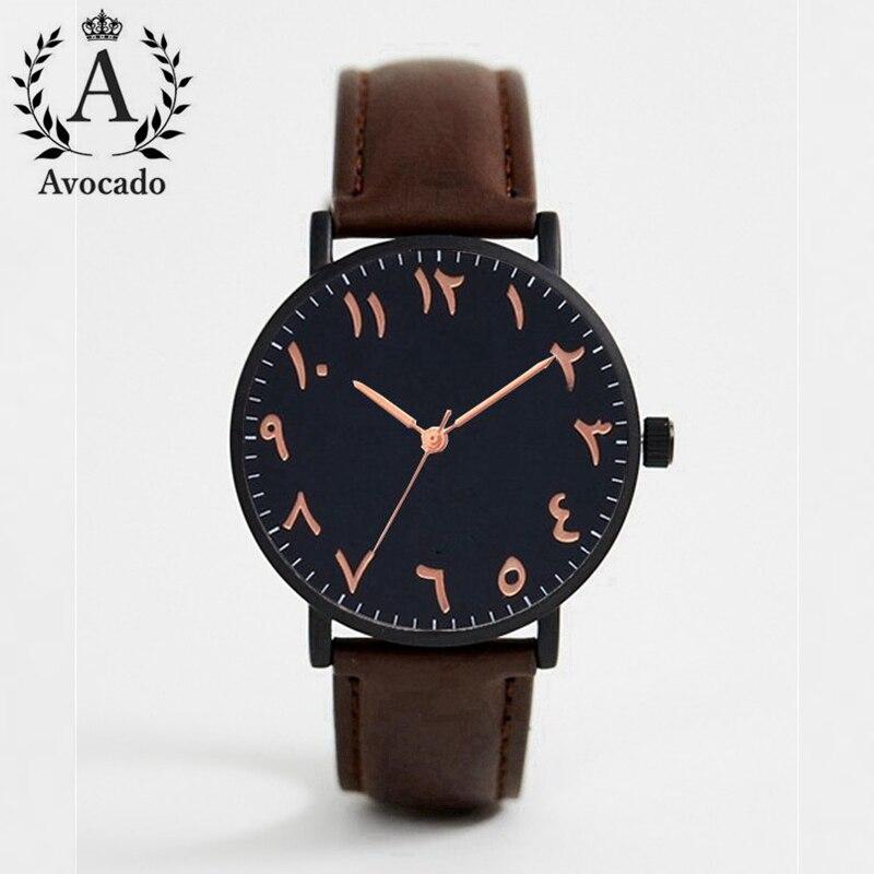 Арабские часы, модные женские Роскошные Кварцевые наручные часы с кожаным ремешком, золотые женские наручные часы, женские черные часы
