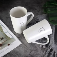 classic simple fashion advanced ceramic mug number 12 mug frosted matte casual coffee milk cup